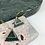 Thumbnail: 24k Gold Plated Emerald Green Glitter Triangle Hoops