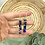 Thumbnail: Silver Plated Blue Tortoiseshell Baton Hoops