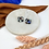 Thumbnail: Silver Plated Pastel Terrazzo Geo Hoops