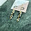 Thumbnail: 24k Gold Plated Marble and Brass Baton Hoops