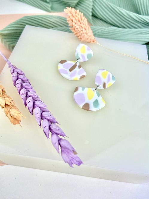 Pastel Mosaic Clay Dangle & Drop Earrings