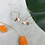 Thumbnail: 24k Gold Plated Peach Mother of Pearl Moon Hoops