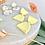 Thumbnail: Retro Shimmer Lemon Dangle & Drop Earrings