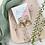 Thumbnail: White Marble Brass Trapezoid Studs