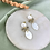 Thumbnail: Mother of Pearl & White Clay Brass Dangle Studs