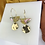 Thumbnail: 24k Gold Plated Marbled Acetate & Brass Dangle Hoops