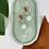 Thumbnail: Pastel Mint & Gold Dangle Clay Studs