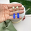Thumbnail: Handmade Blue & Mint Clay Dangle Studs