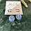 Thumbnail: Hand Poured Lilac Iridescent Glitter Disc Hoops
