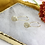 Thumbnail: 24k Gold Plated Mini Marble Disc Oval Hoops