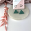 Thumbnail: Hand Poured Jade Resin Glitter Triangle Hoops
