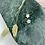Thumbnail: 24k Gold Plated White Marble Resin Star Hoops