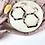 Thumbnail: Clip on Blonde Tortoiseshell Hexagon Earrings