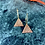 Thumbnail: 24k Gold Plated Rosegold Glitter Triangle Hoops