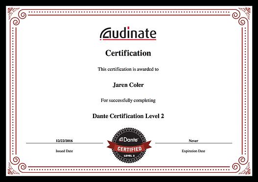 Dante Level 2 certificate.png