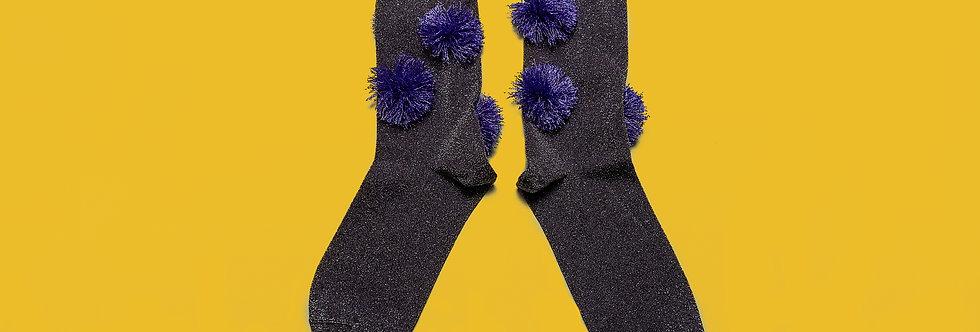 Lurex Ponpon socks