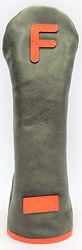 小山ゴルフバック製作所 オリジナルヘッドカバー(日本製)ソフトレザー ハンドメイド ヘッドカバー かわいいカワイイ オシャレ オーダーメイド グリーン 緑 オレンジ