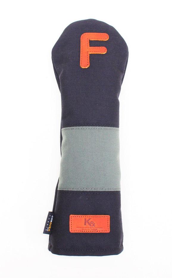 K& HC-Mit COBA ヘッドカバー ブラック、グレー×fieno 記号F FWサイズ