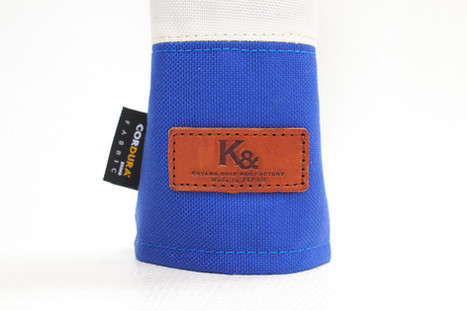 K& HC-Mit COBA ヘッドカバー ブルー、オフホワイト×fieno K&マーク