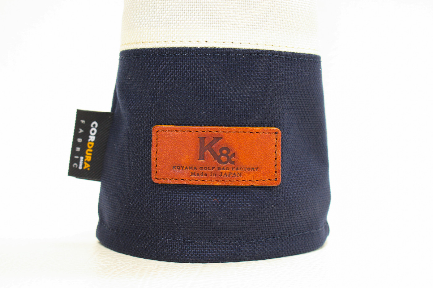 K& HC-Mit COBA ヘッドカバー ネイビー、オフホワイト×fieno K&マーク
