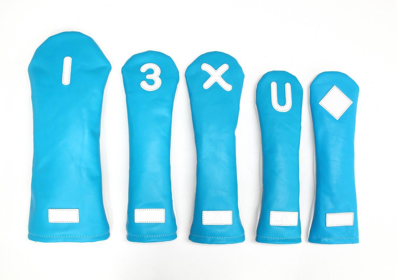 K& HC-Mit 総革ヘッドカバー ブルー 表  1 3 X U ♢.jpg