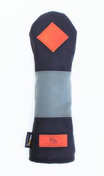 K& HC-Mit COBA ヘッドカバー ブラック、グレー×fieno 記号♢ UTサイズ