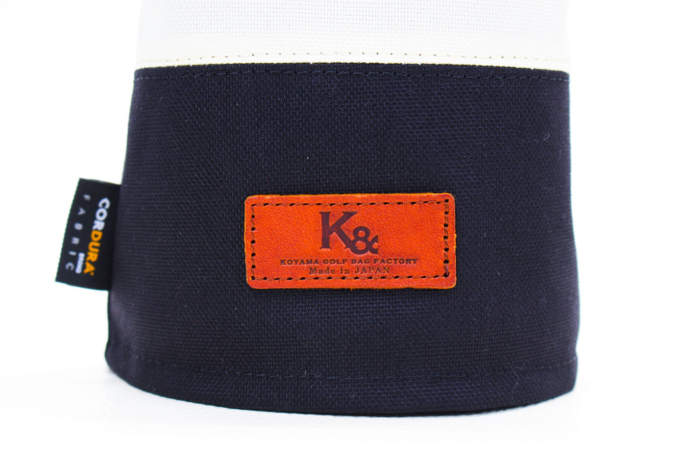 K& HC-Mit COBA ヘッドカバー ブラック、オフホワイト×fieno K&マーク