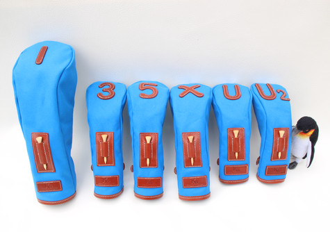 K& HC-TEE CLASSIC ヘッドカバー ブルー フルセット