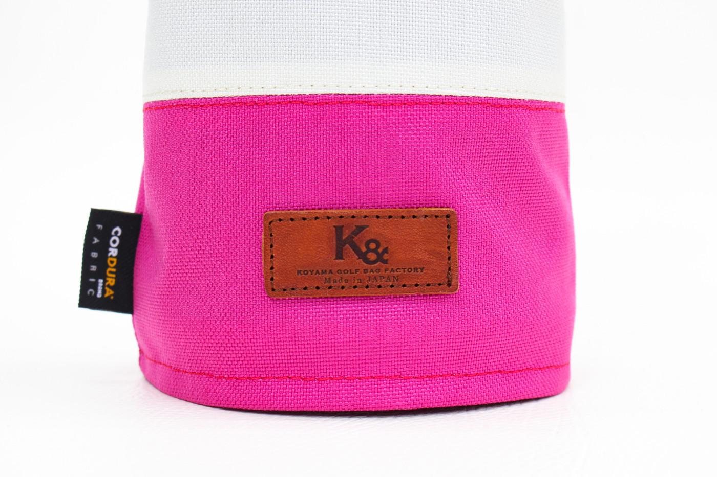 K& HC-Mit COBA ヘッドカバー ピンク、オフホワイト×fieno K&マーク
