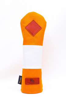 K& HC-Mit COBA ヘッドカバー オレンジ、オフホワイト×fieno 記号♢ UTサイズ ユーティリティ