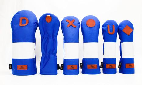 K& HC-Mit COBA ヘッドカバー ブルー、オフホワイト×fieno 2