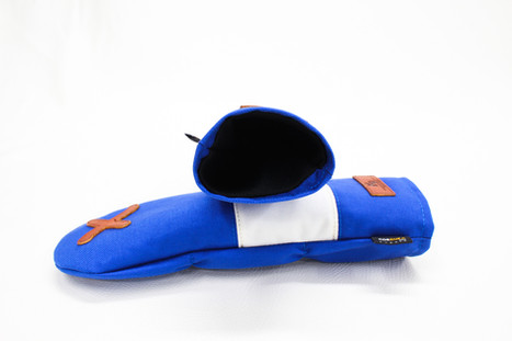 K& HC-Mit COBA ヘッドカバー ブルー、オフホワイト×fieno 内装