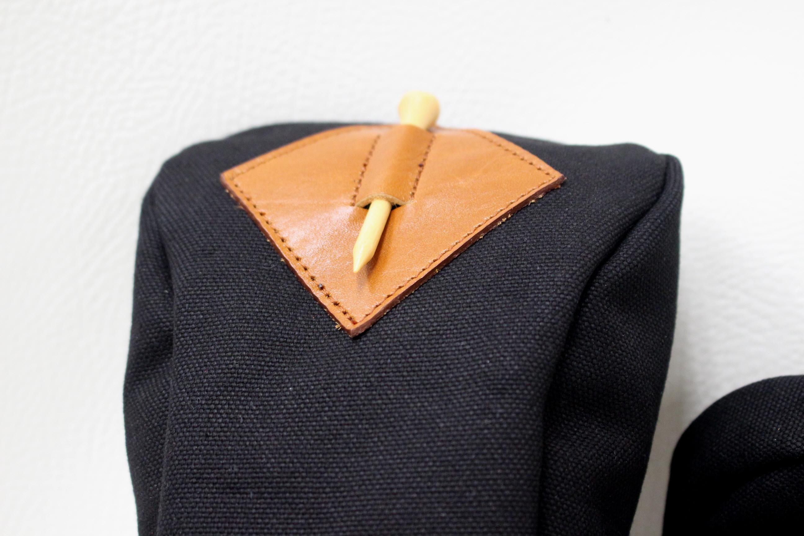 キャメルレザー×ブラック帆布
