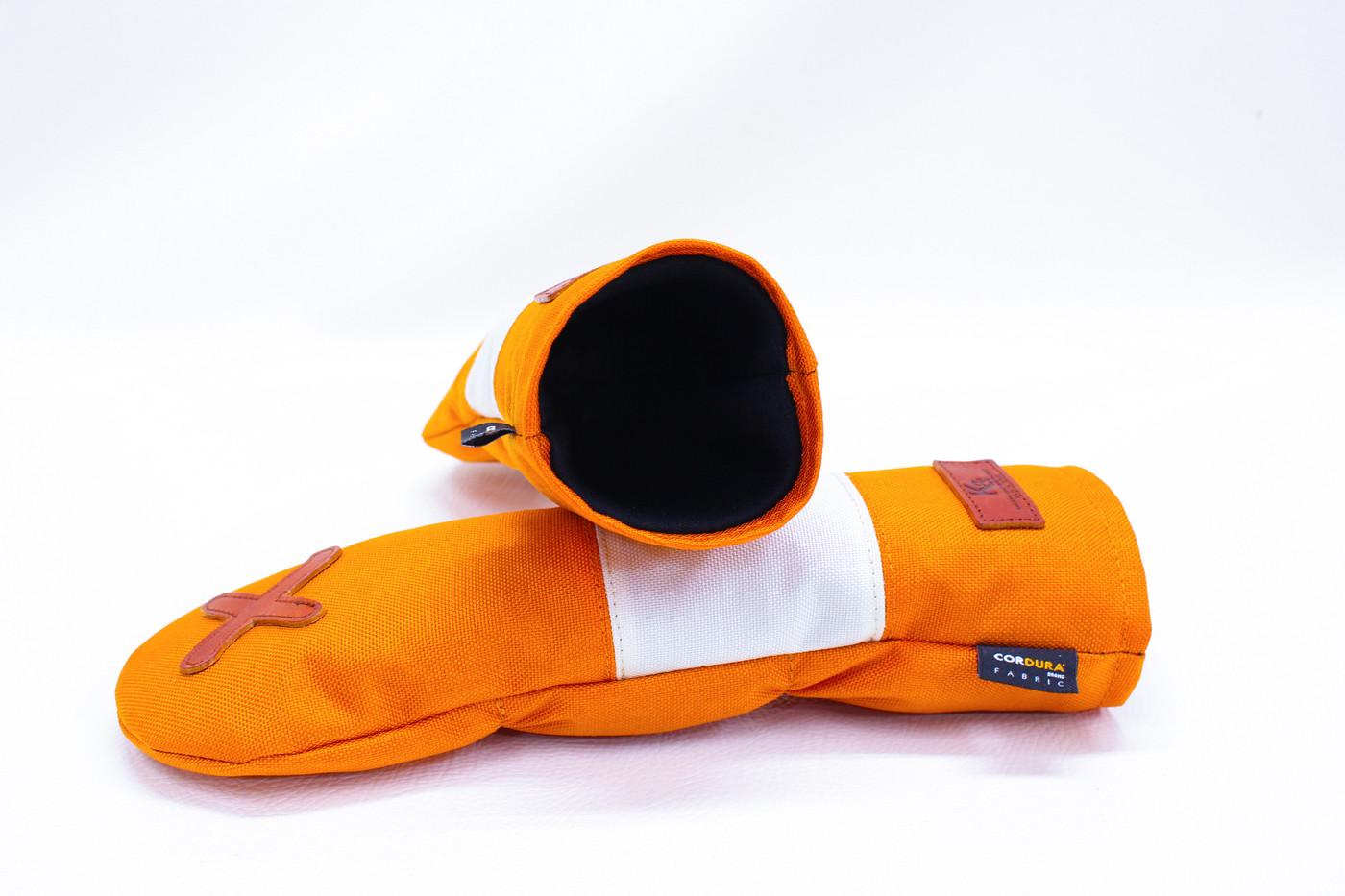 K& HC-Mit COBA ヘッドカバー オレンジ、オフホワイト×fieno 内装