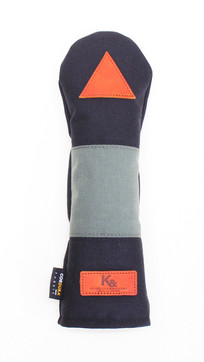 K& HC-Mit COBA ヘッドカバー ブラック、グレー×fieno 記号△ UTサイズ