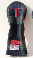 小山ゴルフバック製作所 オーダーメイド ゴルフバッグ メイドインジャパン 刺繍 革 ゴルフ こだわり ハリスツイード かわいい ヘッドカバー