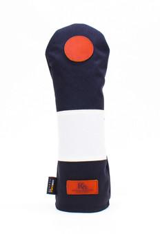 K& HC-Mit COBA ヘッドカバー ブラック、オフホワイト×fieno 記号〇 FWサイズ フェアウェイウッド