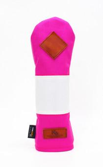 K& HC-Mit COBA ヘッドカバー ピンク、オフホワイト×fieno 記号♢ UTサイズ ユーティリティ