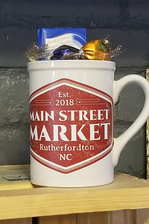 Main Street Market Mug filled with Specialty Chocolates