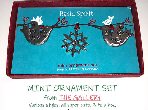Mini Ornament Set from The Gallery