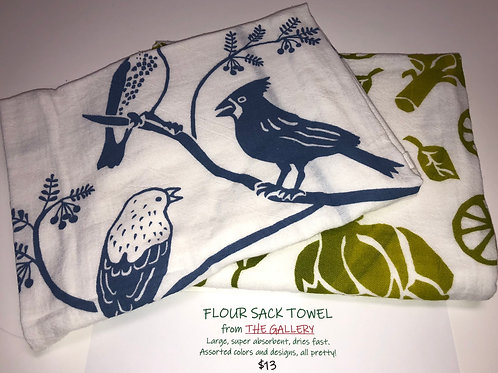 Flour sack towels from The Gallery