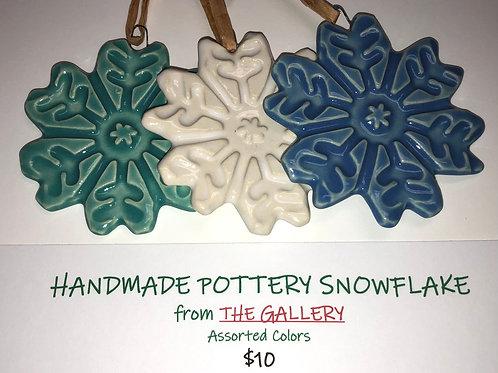 Handmade Pottery Snowflakes