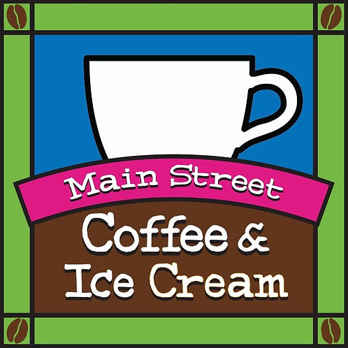 Gift certificate for Main Street Coffee and Ice Cream