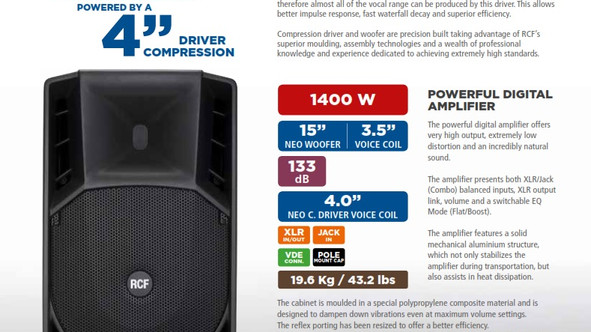 RCF ART-745A - setting new standards with a larger compression driver