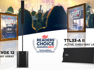 RCF TTL33-A and EVOX 12 are Readers' Choice Favorites
