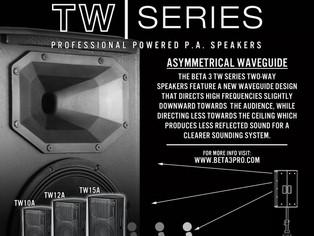 Beta Three TW Series Two-Way Powered Speakers.