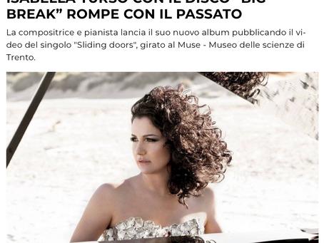 """All Music Italia / Isabella Turso con il disco """"Big Break"""" rompe con il passato"""