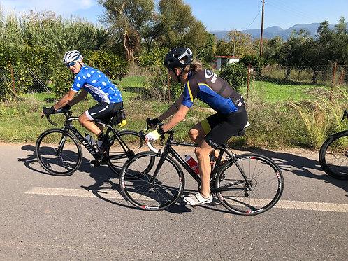 Cykelresa Kalamata, Landsväg FULLT