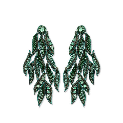 Filos green earrings