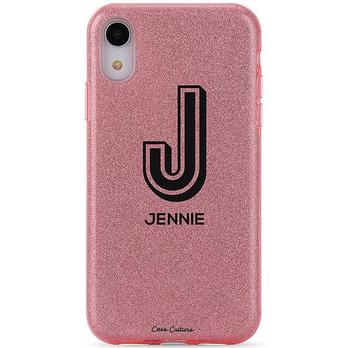 Sparkling Rose Pink Glitter (Black Font)